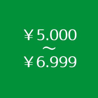 ¥5.000~¥6.999